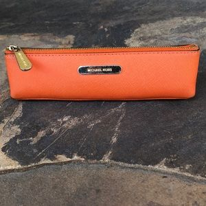 Michael Kors saffiano leather pencil case